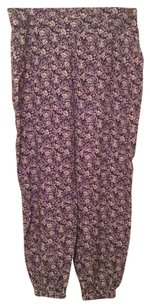 Black Poppy Pac Sun Joggers Relaxed Pants Purple/Multi