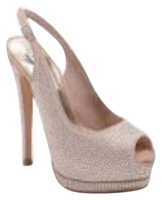 Bling bling nude pumps