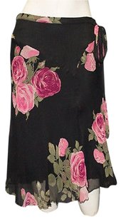 Blumarine 100 Silk Skirt Black