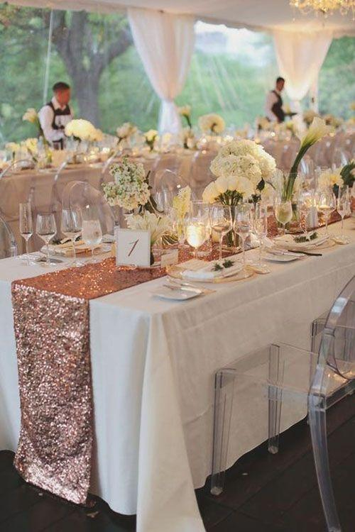 Blush Lot Of 10 Sequin Table Runners Rose Gold Glitter Sparkle Glam Bling  Tablecloth ...