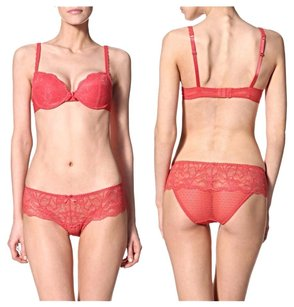 Blush Paris London Nyc Luscious Convertible Underwire Molded Push Up Sexy Date Night Valentine Gift Holiday Geniune Stylish Top Red