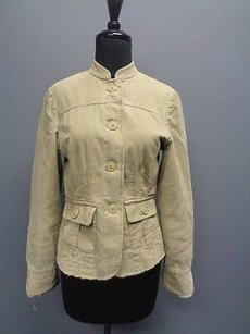Boden Long Sleeved Button Down Two Sm740 Beige Jacket