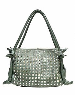 Bodhi Pebble Leather Tote in Green