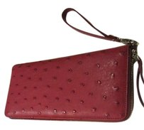 Borlino Leather Wallet Wristlet in Red
