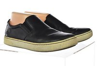 Børn Born Womens Slip On Leather Casual Loafers Elastic Black Flats