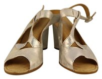 Børn Born Corwn Womens Wedges Metallic Leather Open Toe Silver Sandals