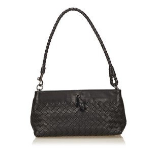 Bottega Veneta Black Leather Others Shoulder Bag