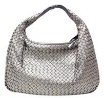 Bottega Veneta Italian Leather Woven Lambskin Hobo Bag