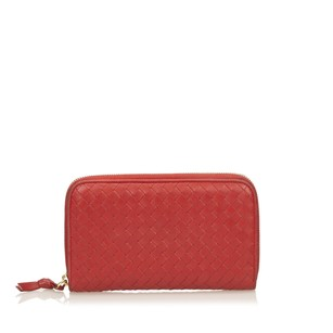 Bottega Veneta Leather,long Wallets,others,red,6aboco001
