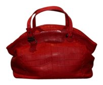 Bottega Veneta Limited Edition Crocodile Satchel in red