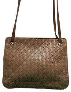 Bottega Veneta Woven Lambskin Leather Convertible Cross Body Bag