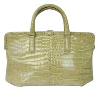 Bottega Veneta Crocodile Leather Framed Handbag Tote Shoulder Bag