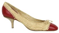 Bottega Veneta Straw Leather Multi-Color Pumps