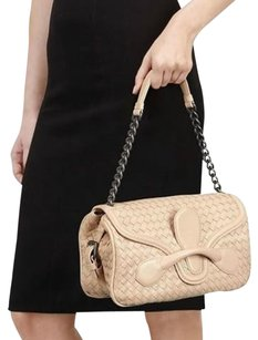 Bottega Veneta Weave Mirror Chain Buckle Shoulder Bag