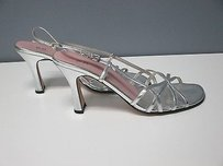 BP. Clothing B Open Toe Adjustable Silver Pumps