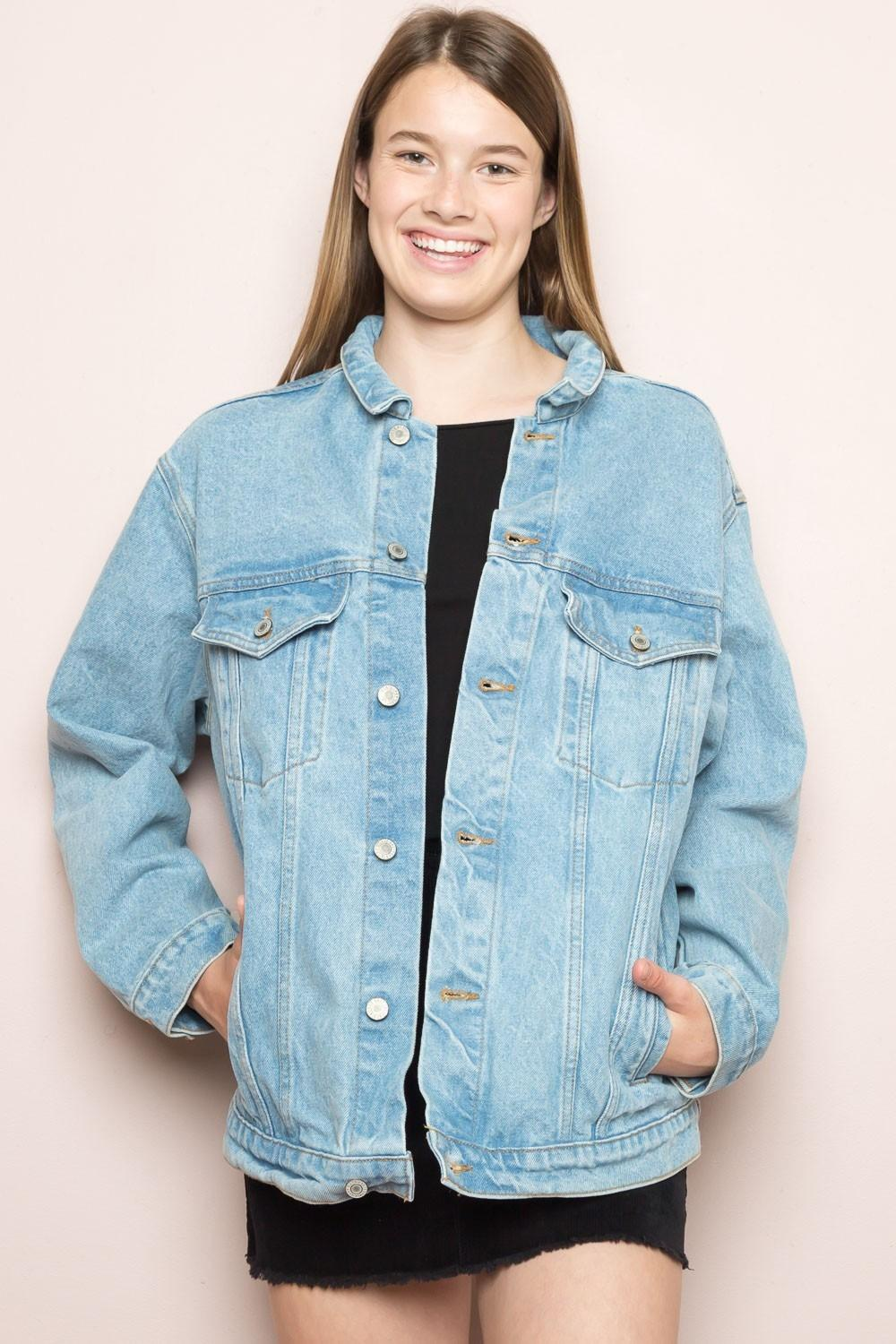 Brandy Melville Black Kelly - Denim Jacket Size OS (one Size) - Tradesy