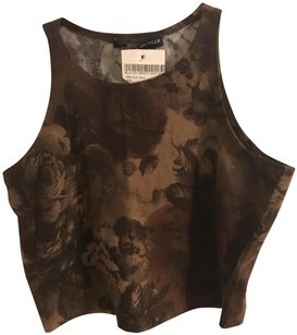 Brandy Melville Top Brown floral