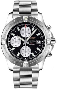 Breitling Breitling Men's Stainless Steel Colt Chronograph Black Watch A1338811