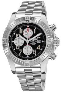 Breitling Breitling Men's Super Avenger New Black Chronograph Dial Watch A1337011/B973