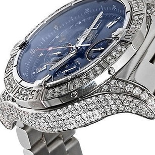 Breitling Breitling Super Avenger A13370 Diamond Case Blue Sticks Dial