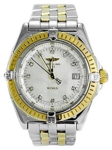Breitling Breitling Wings D67050 Two-tone 18k Ss Mop Diamond Dial Quartz Womens Watch