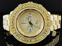 Breitling Iced Out Ct Mens Breitling Super Avenger Canary Diamond Watch Joe Rodeo