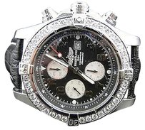 Breitling Mens 1 Row Breitling Super Avenger Aeromarine Mm Genuine Diamond Watch Ct