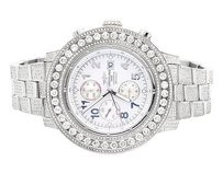 Breitling Mens Breitling A13370 Super Avenger 53mm Stainless Steel With Diamonds Ct