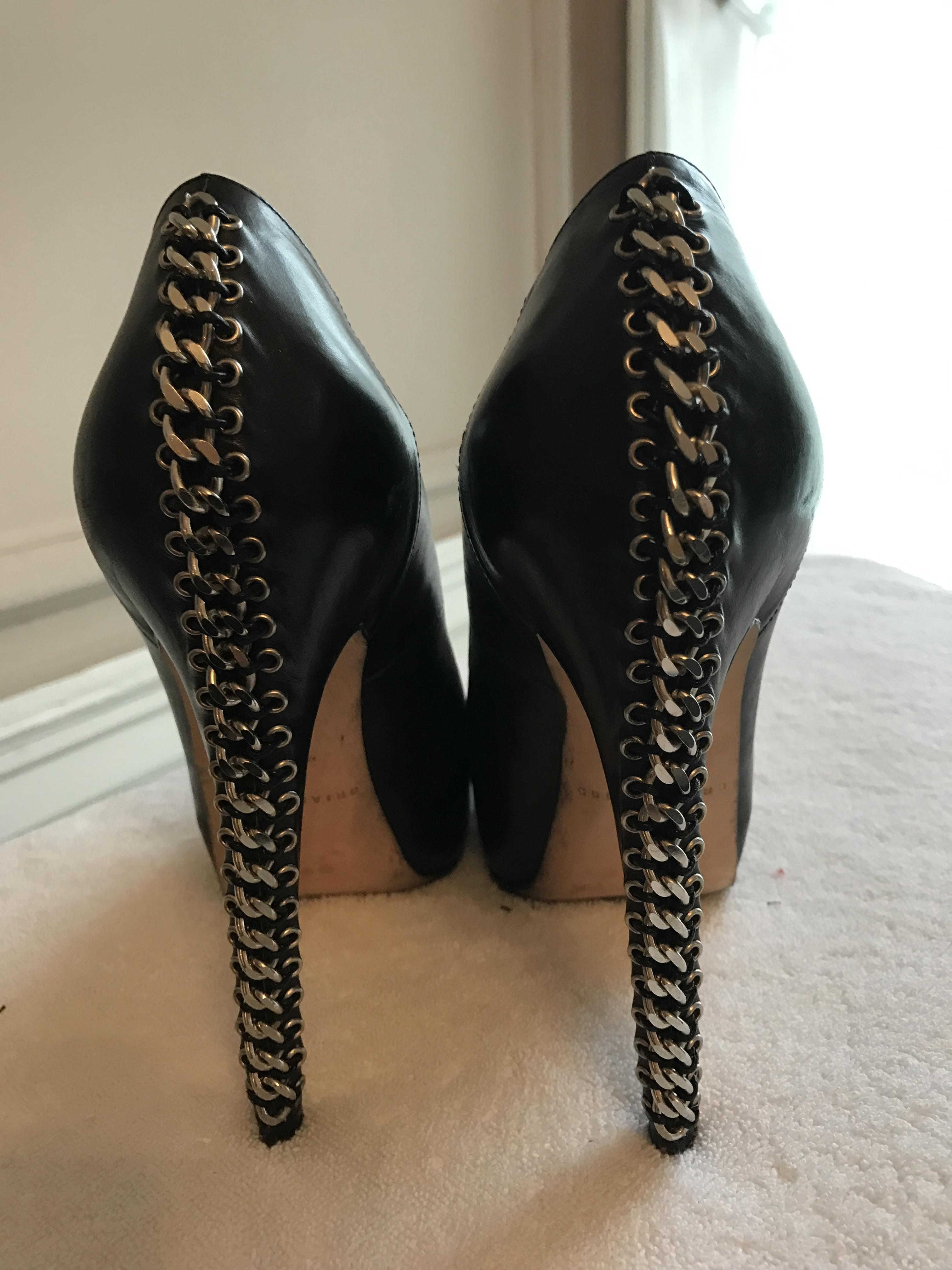 brian atwood Noir  Argent  chain chain chain link pompes taille us 145d7a