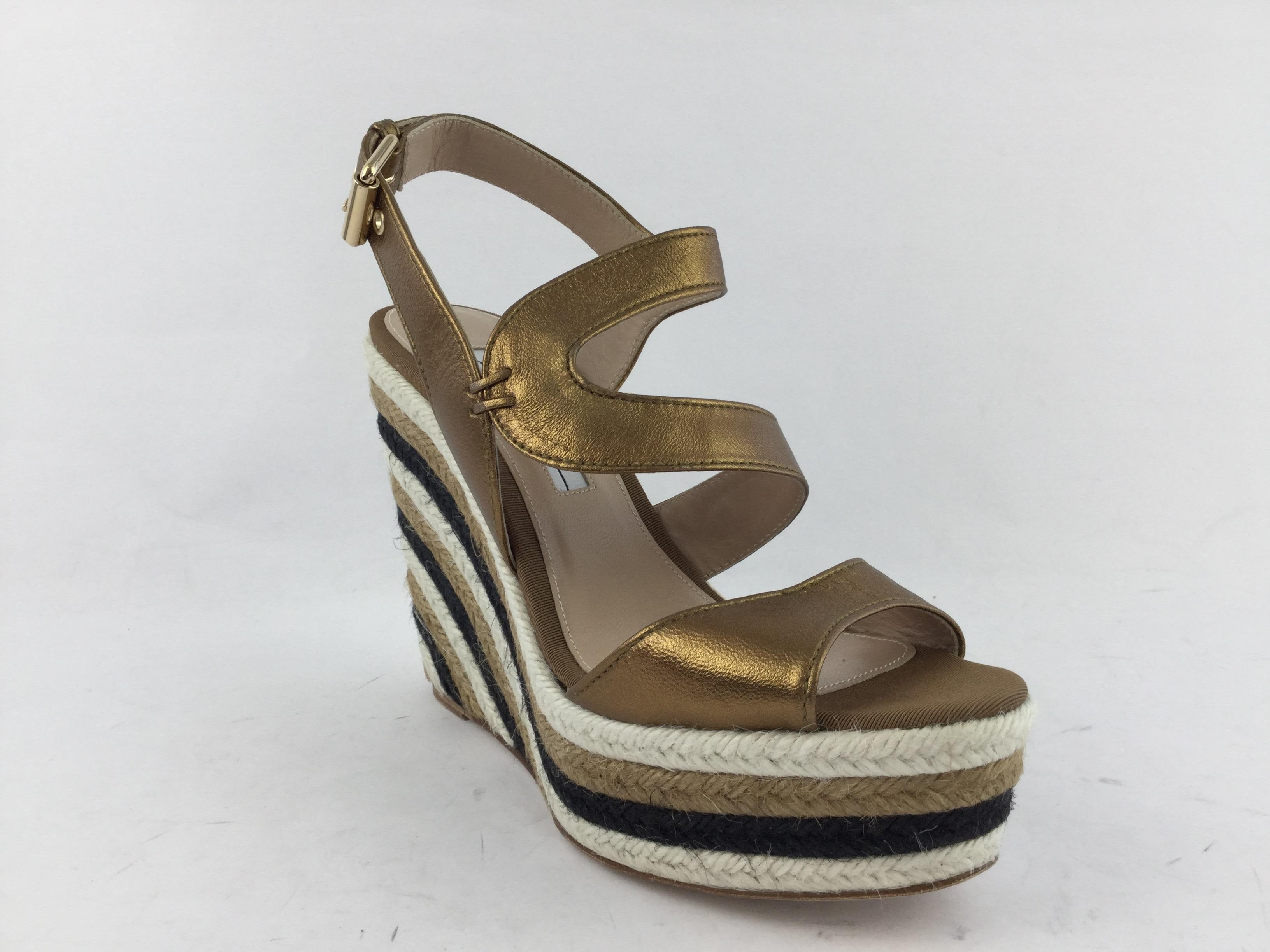Brian Atwood Metallic Espadrille Wedges hot sale online clearance outlet looking for amazon cheap online discount best place taYsUM2XpW