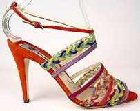 Brian Atwood Strappy Coral Multi-Color Pumps
