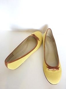 Brooks Brothers Yellow Canvas Yellow,Tan Flats