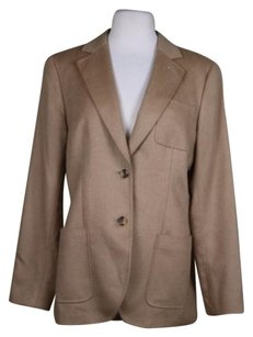 Brooks Brothers Brooks Brothers Camel Hair Womens Tan Blazer Long Sleeve Jacket