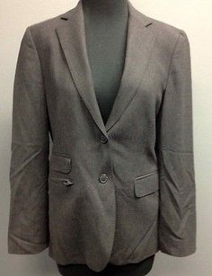 Brooks Brothers Brooks Brothers Gray Wool Blend Button Long Sleeve Lined Blazer 1542