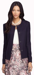 Brooks Brothers Loro Piana Wool Woven Italy Four-button Mother Of Pearl Imported Slim Fitting Navy Jacket