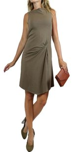 Brunello Cucinelli short dress brown Beige Sleeveless Sleeveless Boat Neck Fully Lined Designer on Tradesy