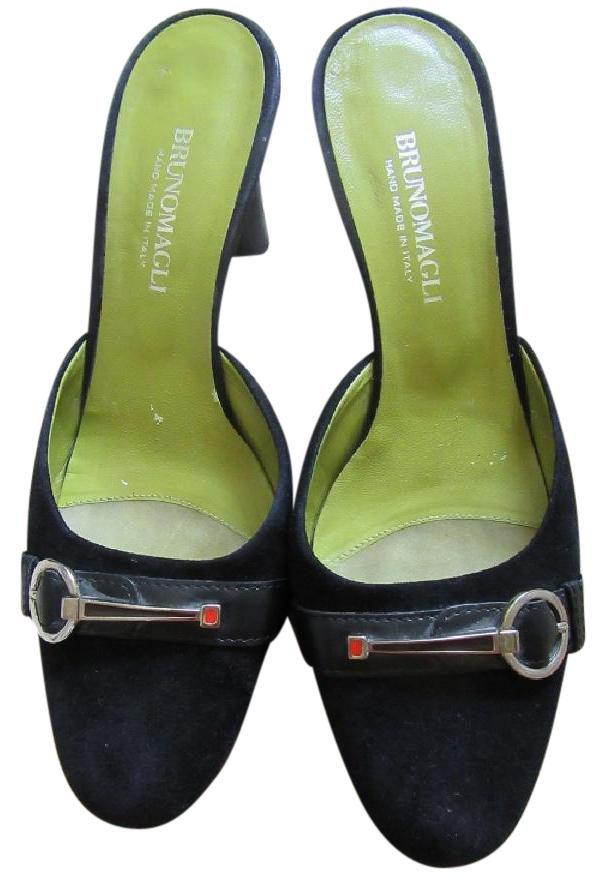 Bruno Magli Leather Round-Toe Mules outlet visit sale marketable outlet cheap price discount lowest price LM8KKkoO
