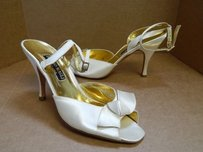 Bruno Magli B Satin Ivory Pumps