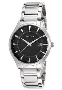 Bulova Bulova 96B184 Men's Stainless Steel Black Quartz Watch
