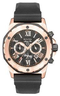 Bulova Bulova Men's Chronograph Black Rubber Strap Watch 44mm 98B104