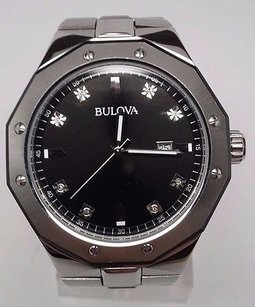 Bulova Bulova Mens Marine Star Diamond Watch 98d103 Fits A 7 Wrist