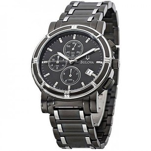 Bulova Bulova Sport Chronograph Date Black Dial Two-tone S.steel Mens Watch 98b101