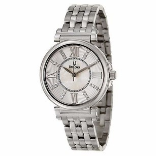 Bulova Bulova Womens 96p134 Mother Of Pearl Stainless Steel Watch 19dc