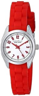 Bulova Caravelle York Red Silicone Ladies Watch 43l174