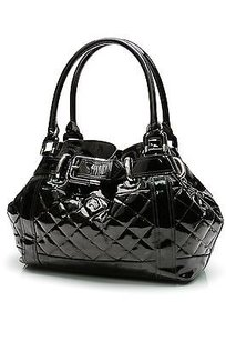 Burberry Quilted Patent Tote in Black