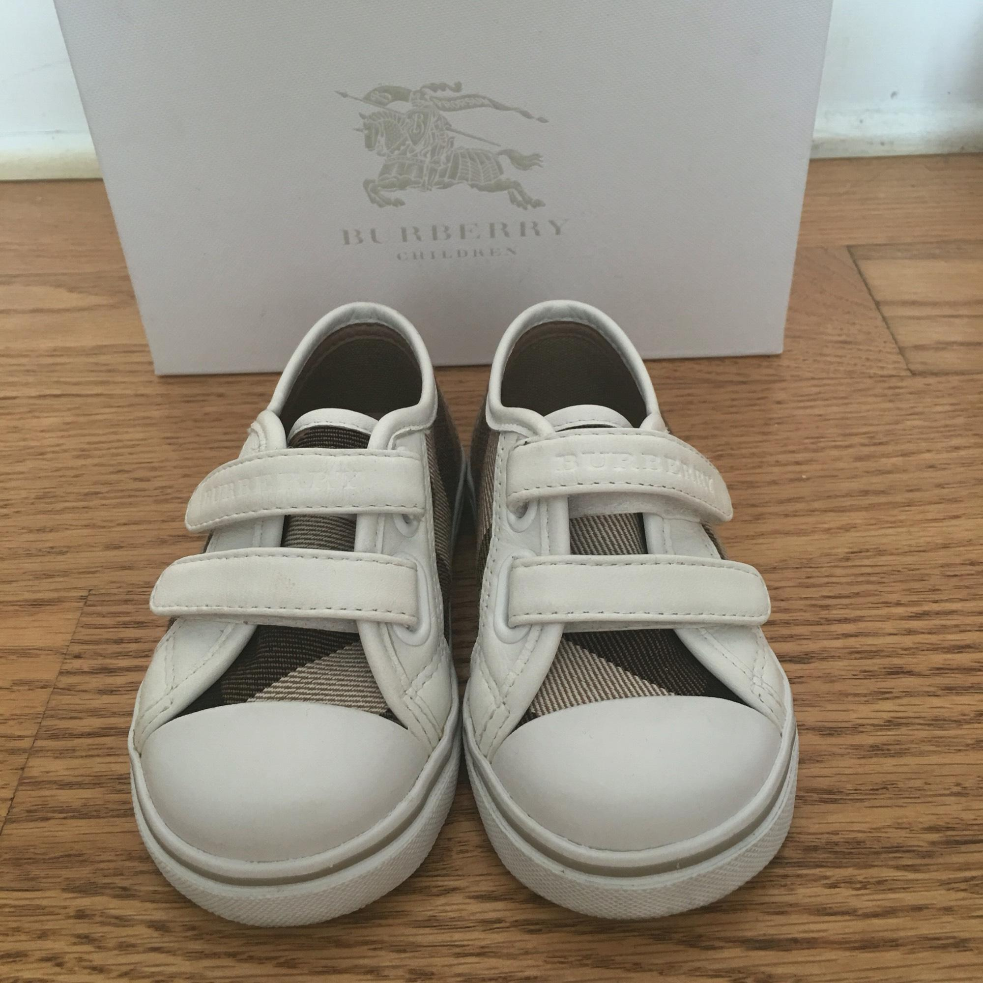 burberry toddler s 5 5 white athletic shoes on sale 27