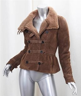 Burberry Womens Leather Coat