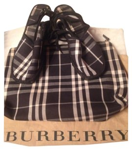 Burberry Black & White Mules