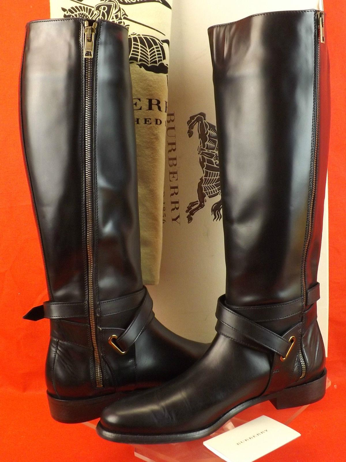 burberry black riding boots