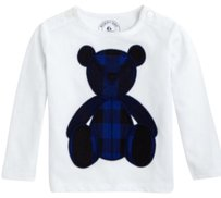 Burberry Childrens Infant Baby T Shirt Blue, Black and White